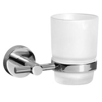 Bathroom cup with handle Bisk For You chrome