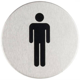 Stainless steel Men's toilet sign SISO