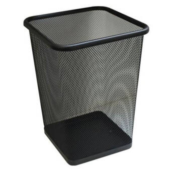 Paper waste bin 10 litres Merida black steel