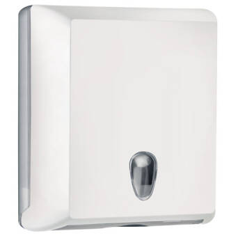 Folded paper towel dispenser M white