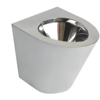 Standing toilet bowl stainless steel