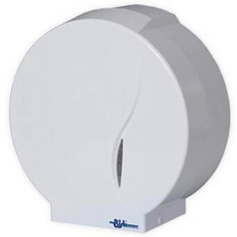 Toilet paper dispenser Alicante Bisk white plastic