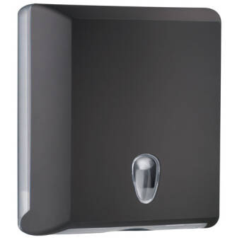 Folded paper towel dispenser M black