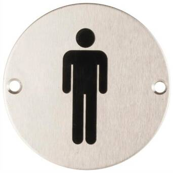 Stainless steel Men's toilet sign