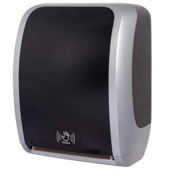 Towel dispenser roll contactless Cosmos black and silver