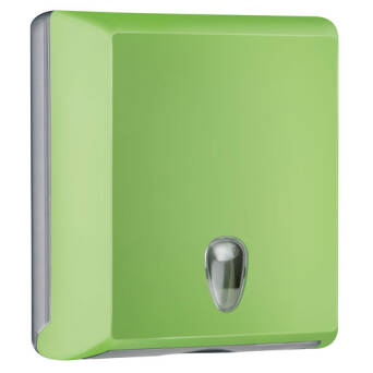 Folded paper towel dispenser M green