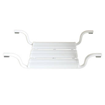 Bathtub seat for disabled white steel ⌀ 25