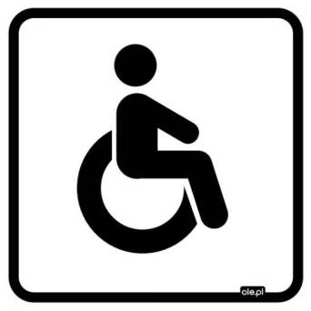 Label Information toilet for disabled