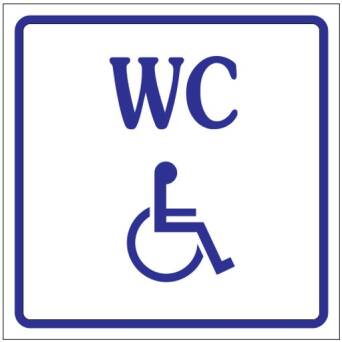 Marking foil adhesive - toilet FOR DISABLED
