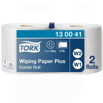 Wiper Combi Roll Tork Advanced 420 Performance White