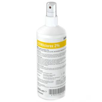 Alcohol liquid preparation for hygienic hand disinfection CITROclorex 2% 250 ml