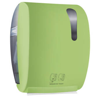 Roll paper towel dispenser green