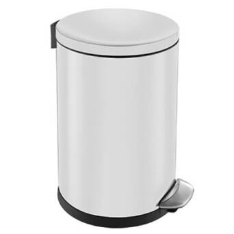 Trash can 5 litres TOP SILENT LUNA steel white