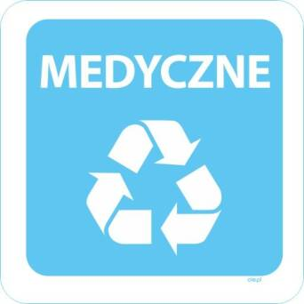 Sticker trash for recycling Medical