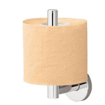 Holder spare toilet paper polished