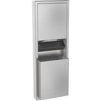 Kit Recessed paper towel dispenser + waste container STRATOS