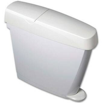 Trash bin to the ladies' room 15 litres white