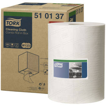 Multipurpose cloth roll Tork Premium 510 White
