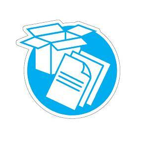 Recycle pictogram blue – paper