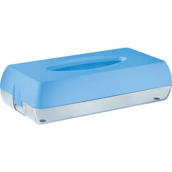 Toilet tissue dispenser blue