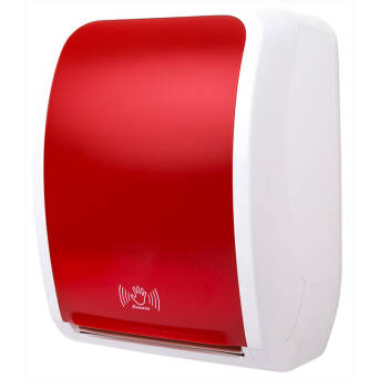 Touchless roll paper towel dispenser Cosmos red
