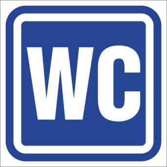 Marking toilets – WC