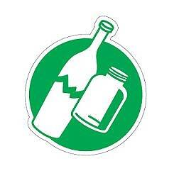 Pictogram green - glass
