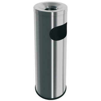 Outside ashtray bin 9 litres stainless steel Merida