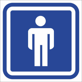 Marking toilets - toilet MALE