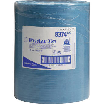 Material roll wiper blue Kimberly Clark WYPALL X80