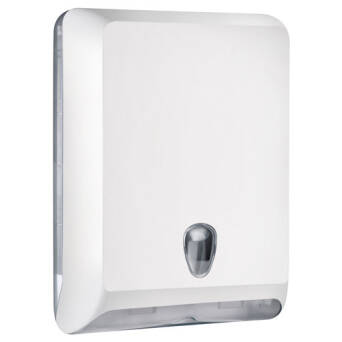 Folded paper towel dispenser white