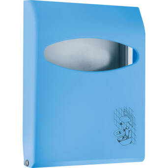 Toilet seat cover dispenser blue