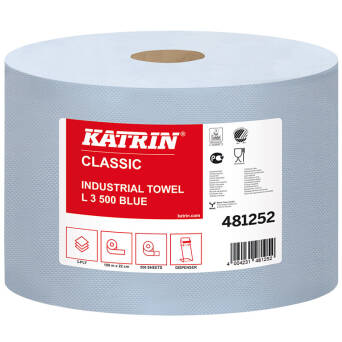 Roll paper blue wiper KATRIN 190 m