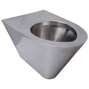 Wall mounted stainless steel toilet bowl matt