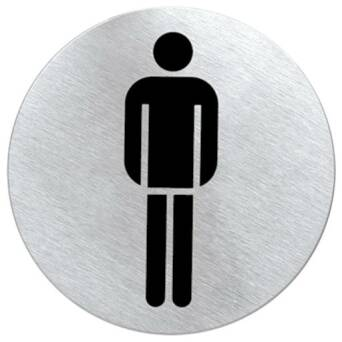 Marking round metallic toilets - MEN'S TOILET