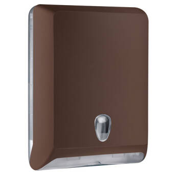 Folded paper towel dispenser L brown