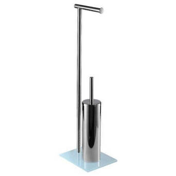 Toilet stand paper holder and toilet brush Bisk NIAGARA