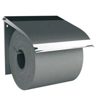 Toilet roll holder polished steel