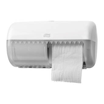 Tork Toilet Double Paper Dispenser for conventional roll white