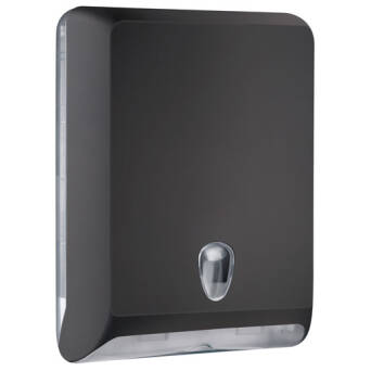 Folded paper towel dispenser L black