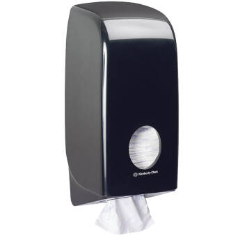 Toilet paper dispenser folded tissue Kimberly Clark